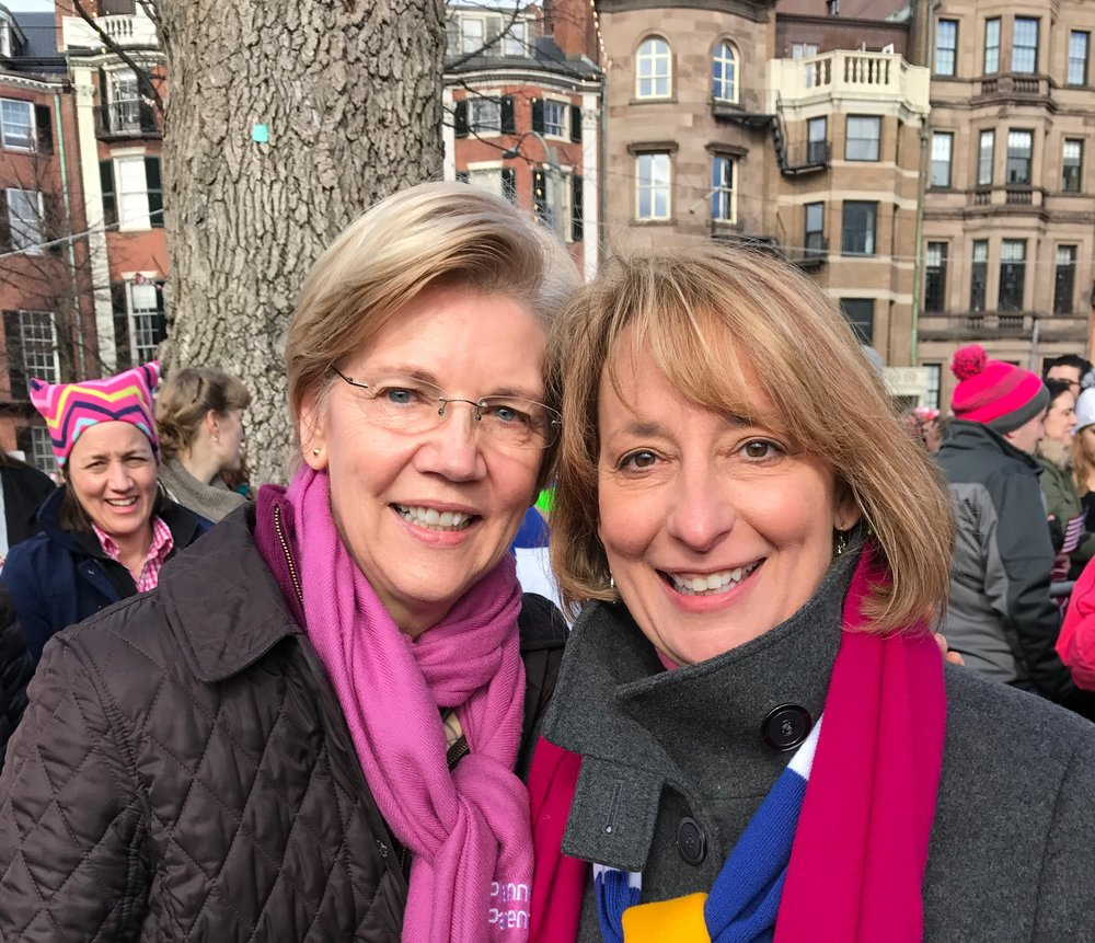 U.S. Senator Elizabeth Warren and Rep. Ehrlich at the Women's March
