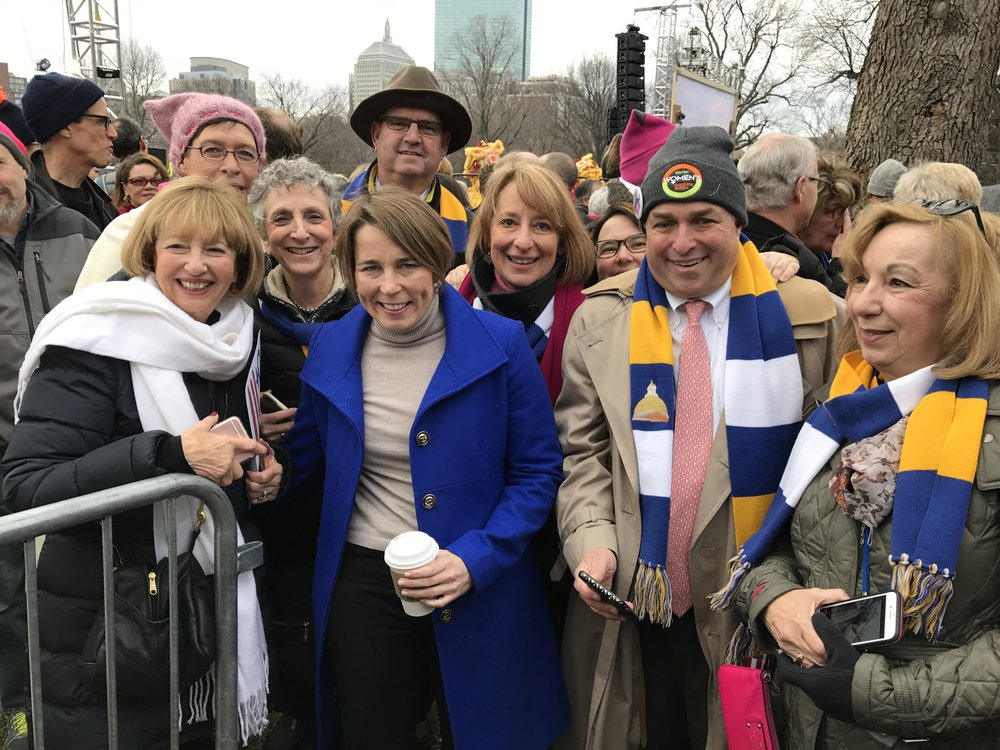 Several Reps and Senators meetup with Attorney General Maura Healey at the Women's March