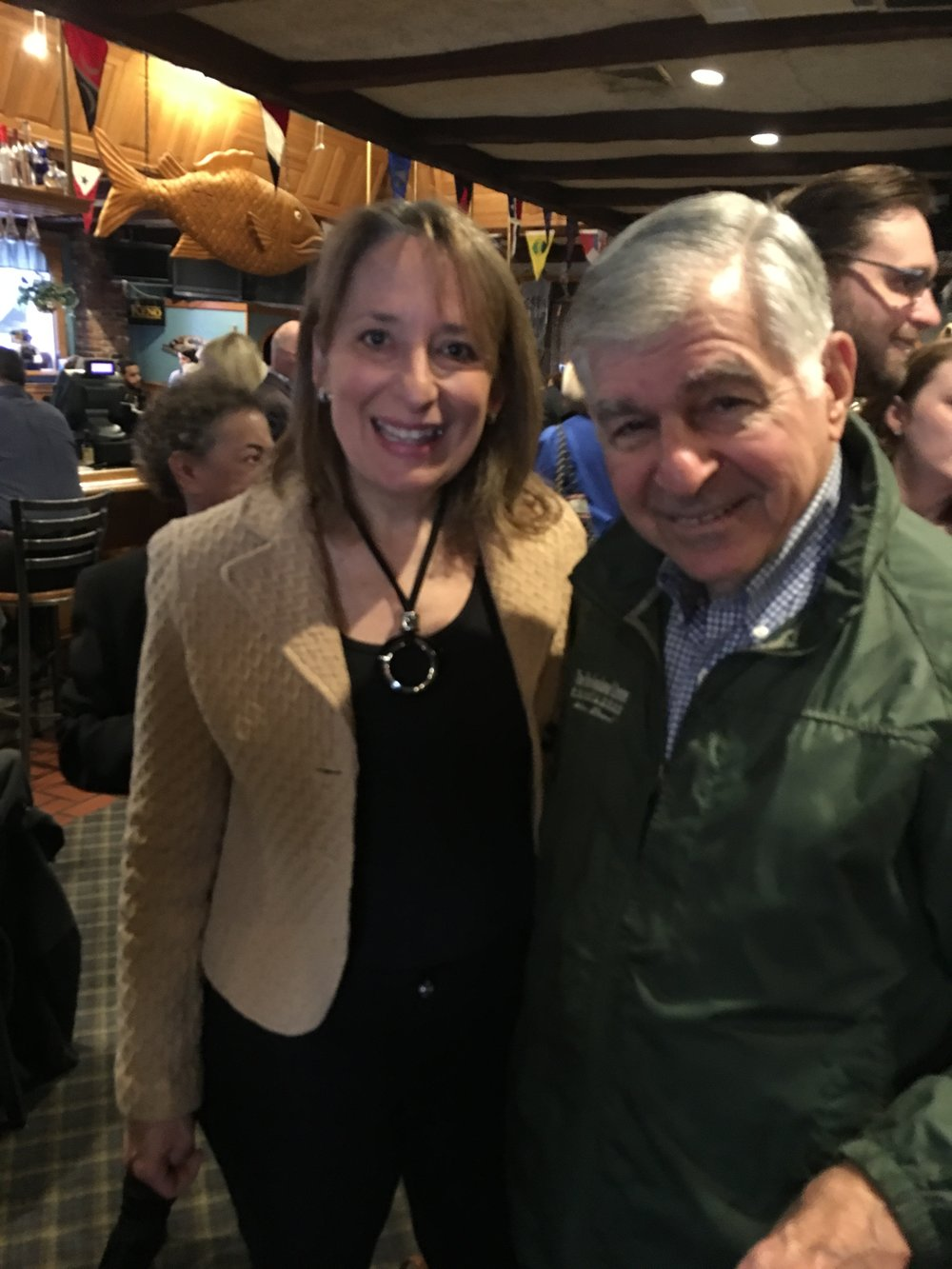 Rep. Ehrlich with MA Gov. Michael Dukakis
