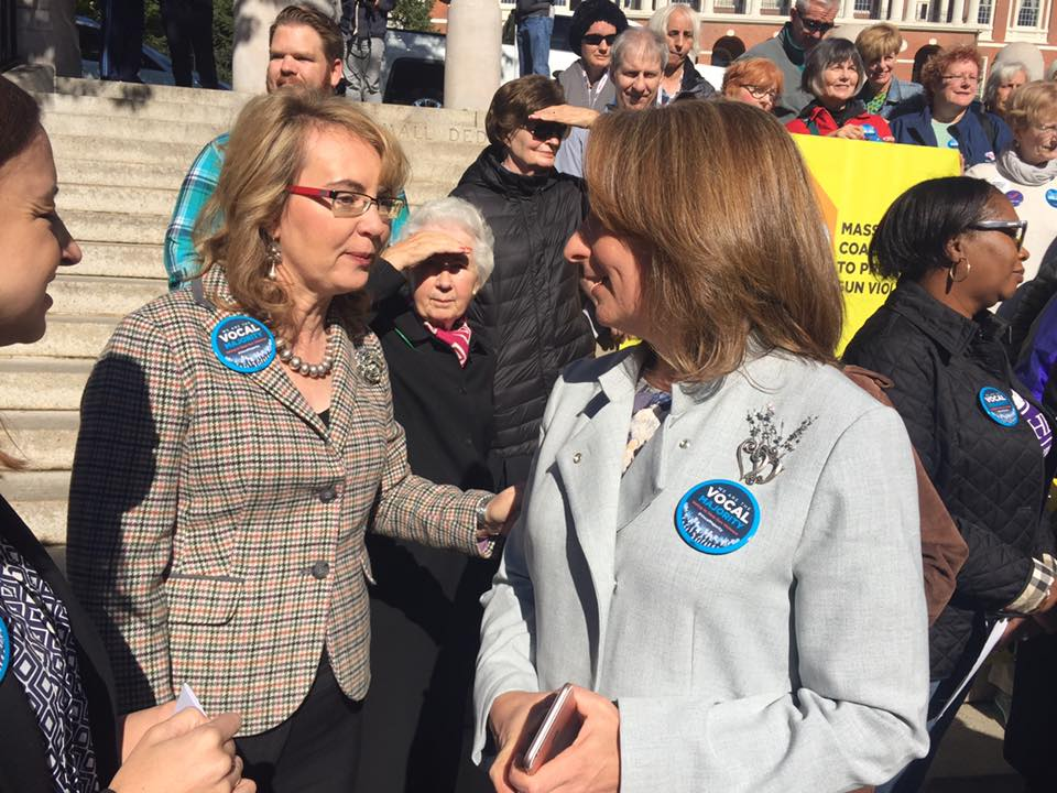 "Rep. Ehrlich connects with former Senator Gabby Giffords to discuss the Rep's ""terror gap"" bill."