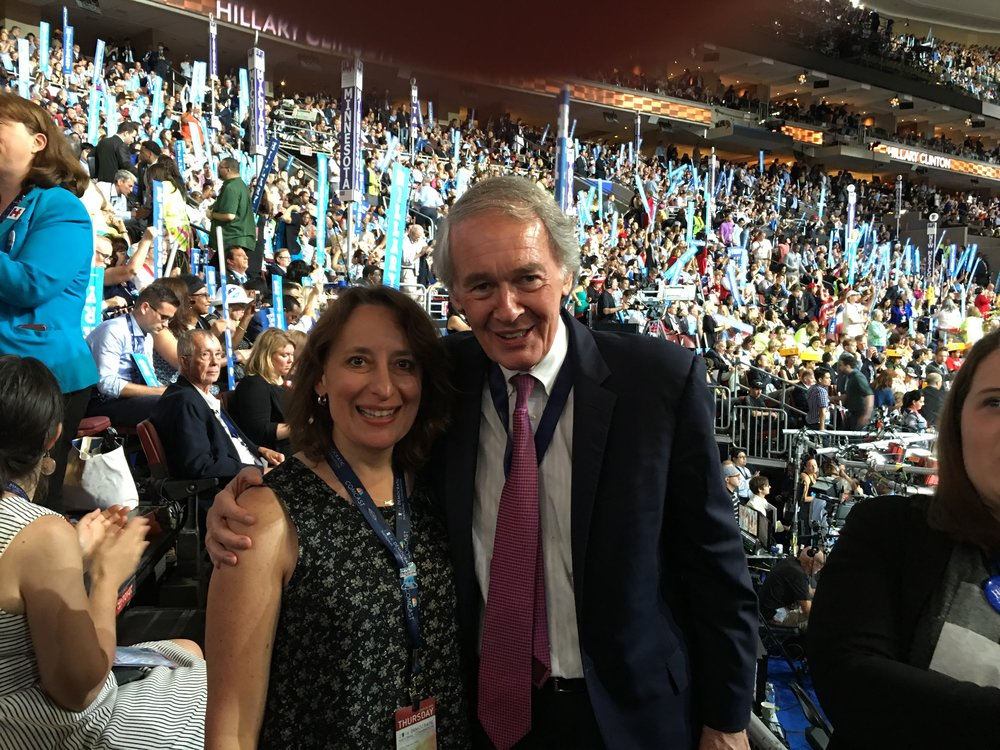Rep. Ehrlich and Senator Markey at the 2016 Democratic Convention in Philadelphia.