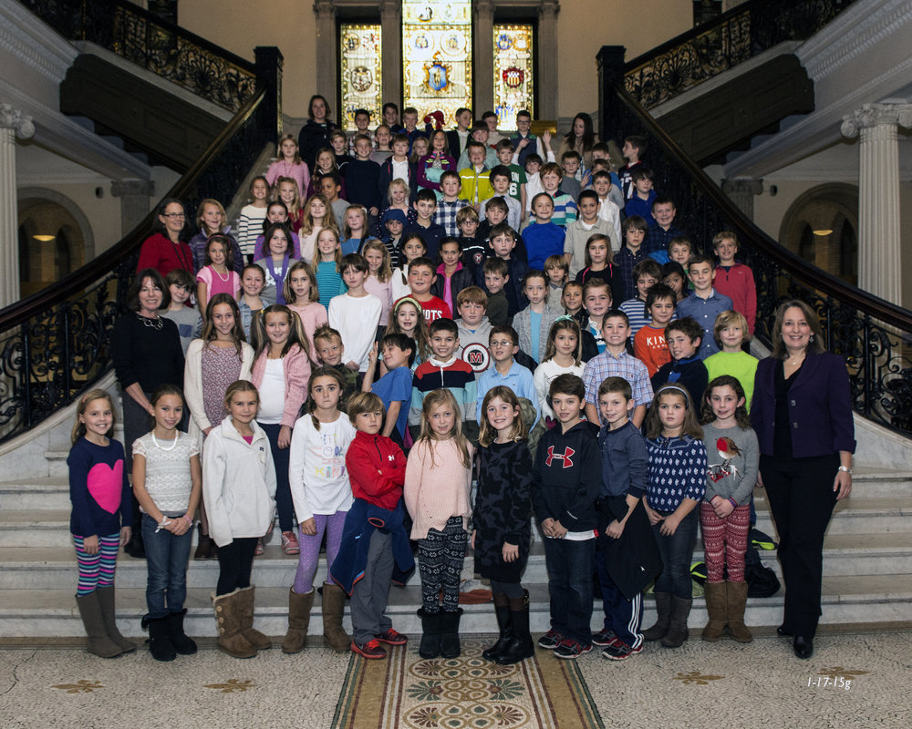 A wonderful visit from students at Glover School in Marblehead.