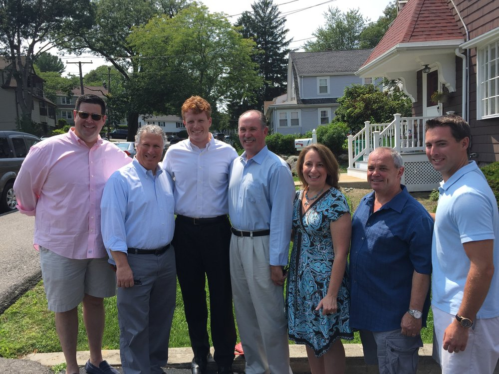 Congressman Joe Kennedy joins the Lynn delegation at the summer picnic