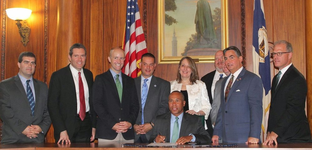 Governor Deval Patrick signs the first of two of Rep. Ehrlich's gas leaks bills into law.