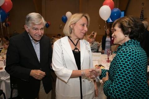 Rep. Ehrlich greets Kitty Dukakis
