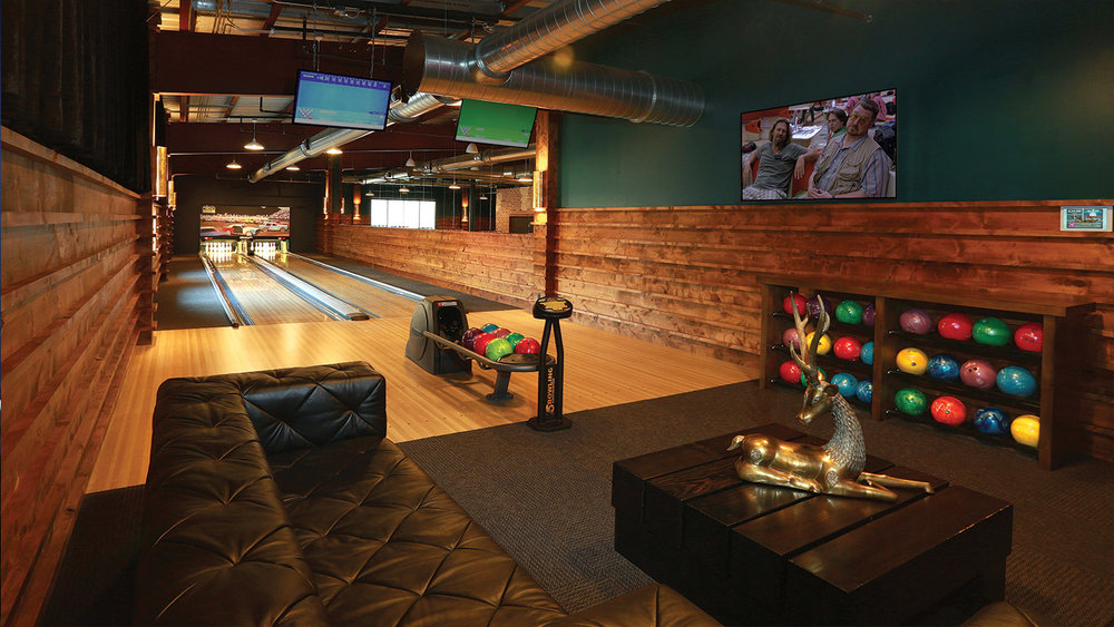 Hole Bowl is Jackson Hole's only day-to-night bowling and indoor entertainment center. SAV Digital Environments was responsible for wiring and installing a Crestron 4K digital media control system. The control system integrates with multiple audio-video sources, including bowling scoring software, allowing unlimited capabilities between audio and video and what's being shown or heard.