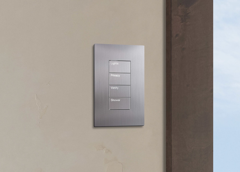 Intuitive Control - Bring your environment to life and take control of your space with enhanced wall plates, smart devices, remotes, touch panels and even voice. SAV Digital Environments will help you maximize efficiency, convenience, comfort levels, and overall energy consumption throughout your space with intuitive control.Pictured: Lutron Palladiom Wallplate