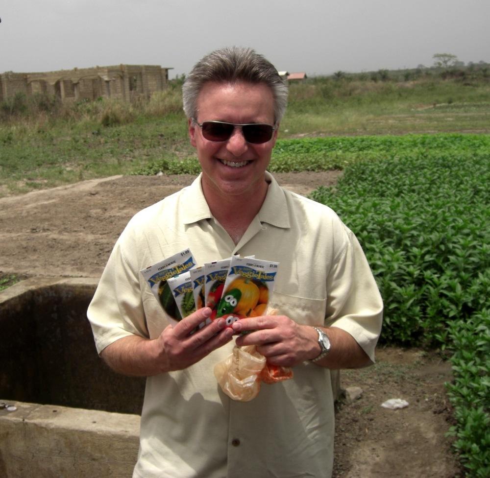 Bringing vegetable seeds to grow