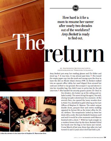 The Return - Washington Post, April 2010