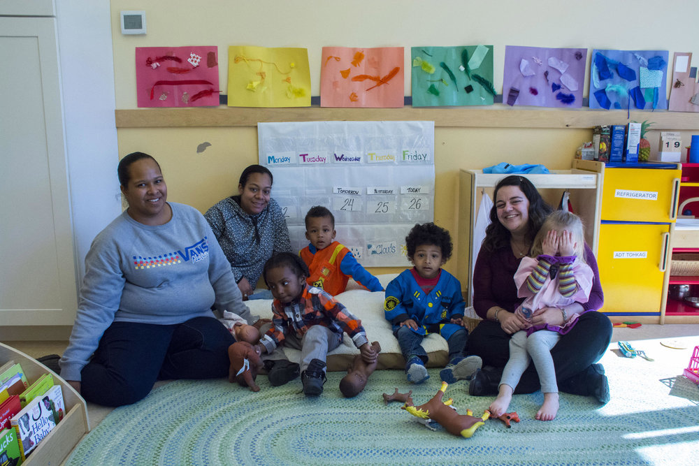 Students and teachers at the Wuneechanunk Shinnecock Preschool in Southampton, Long Island. JESSICA OPATICH / WSHU