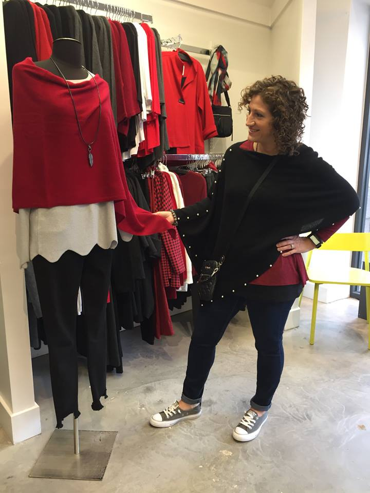 Tracy is ready for every Holiday scenario with Alashan Cashmere ponchos, from pop up parties to inspired gift giving! Ponchos, wraps & gloves are 25% OFF through Sunday!!