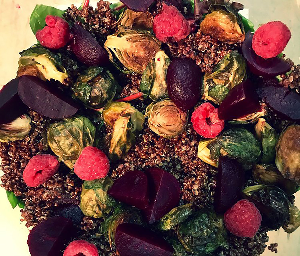 Fall Quinoa Salad with Shallot Vinaigrette