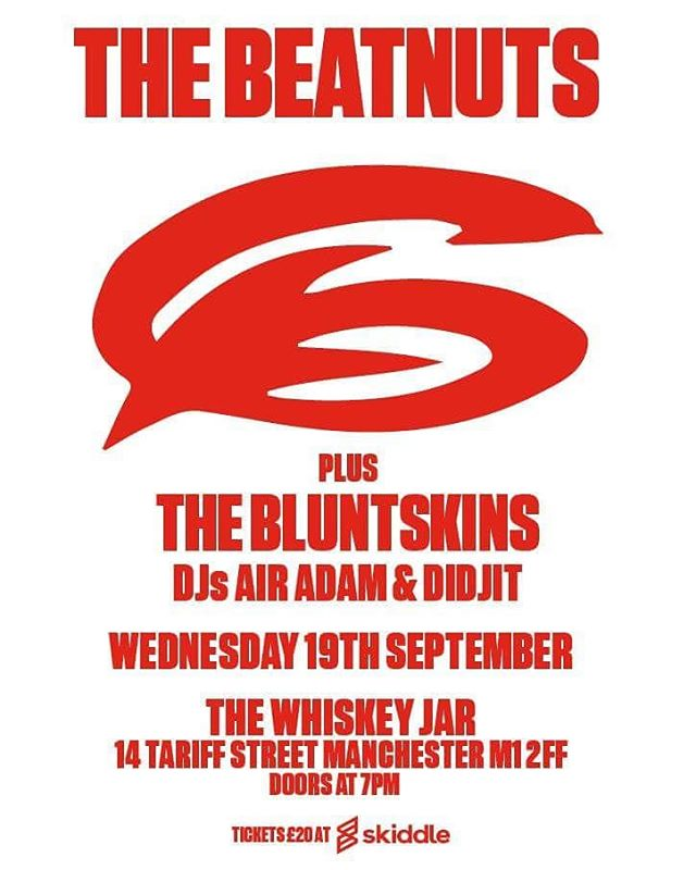 Super slickness from @morebouncemcr  Didjit, @airadam and @thebluntskins throw down before @thebeatnuts at @whiskeyjarnq  #manchester #manchesterhiphop #manchestergigs #skiddle #morebounce