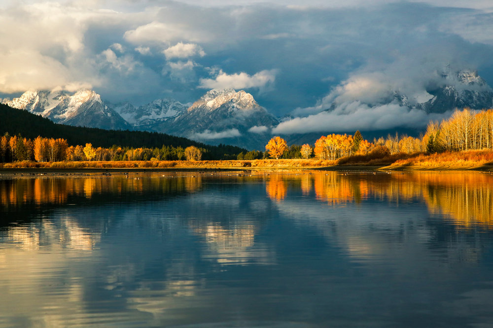 Mt. Moran as seen from Oxbow Bend in Grand Tetons National Park