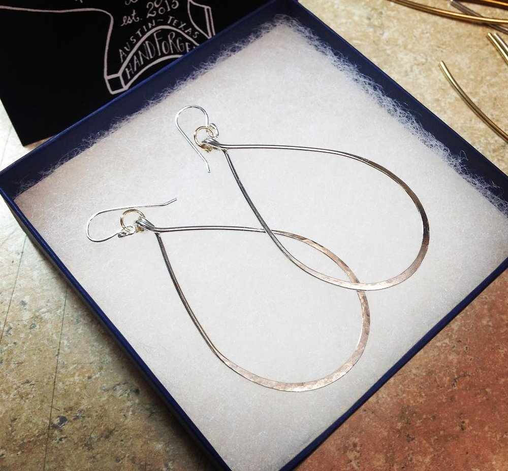 Amy Hackerd Jewelry Silver Hoops
