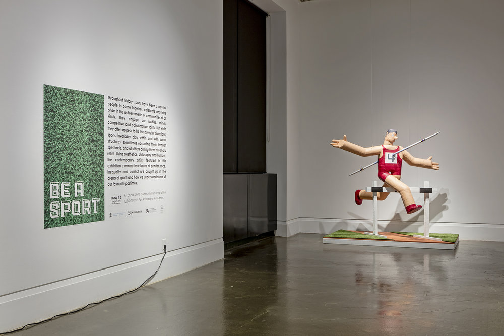 Be A Sport, Robert Freeman Gallery, Art Gallery of Mississauga. Photo by Toni Hafkenscheid.