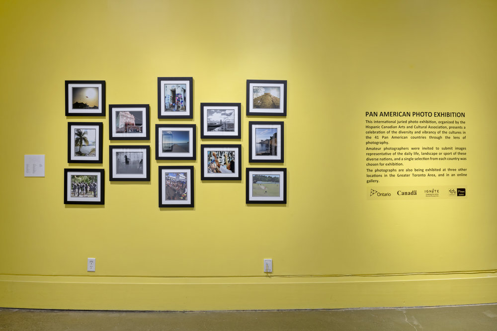 Pan American Photo Exhibition , Resource Centre, Art Gallery of Mississauga. Photo by Toni Hafkenscheid.