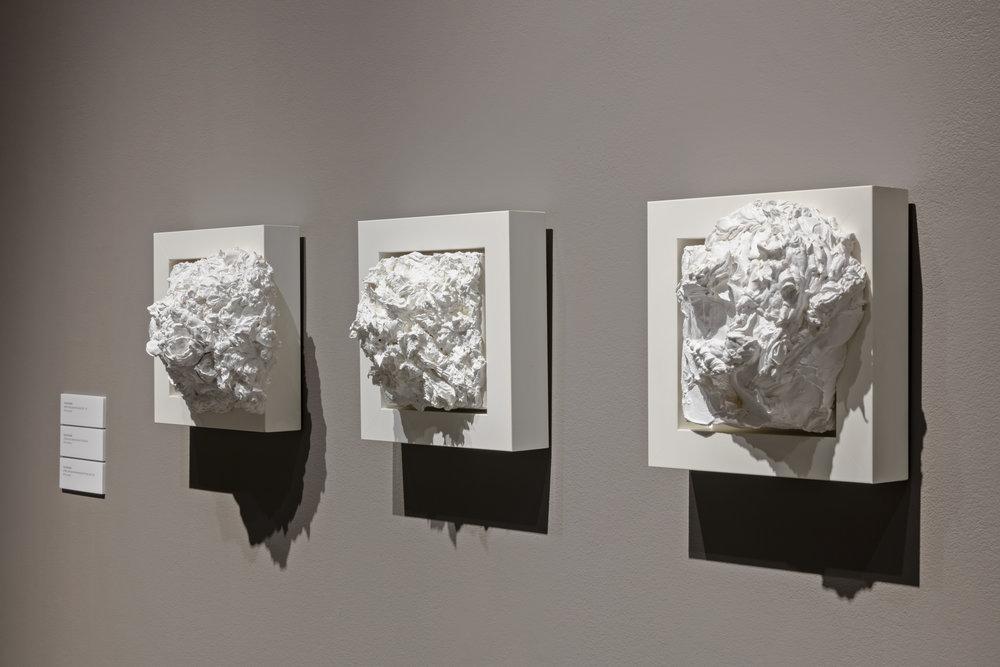 Fiona Kinsella,  Pushing Paint , Robert Freeman Gallery, Art Gallery of Mississauga, Photo by Toni Hafkenscheid.