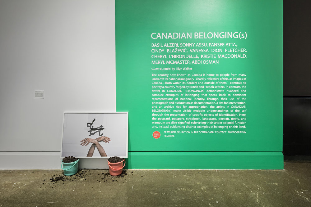 Canadian Belonging(s) , Robert Freeman Gallery, Art Gallery of Mississauga. Photo by Toni Hafkenscheid.