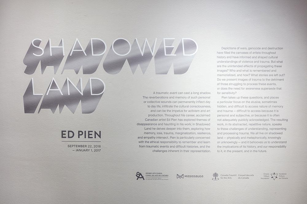 Shadowed Lands , Robert Freeman Gallery, Art Gallery of Mississauga. Photo by Toni Hafkenscheid.