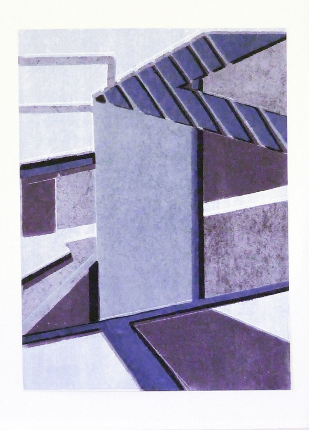 Cityscape 2  (varied edition), Rena Sava, 2014  Reduction relief print on paper