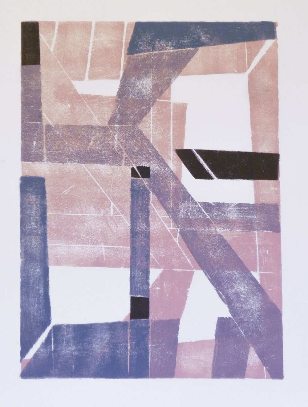 Cityscape 3  (varied edition), Rena Sava, 2014  Reduction relief print on paper
