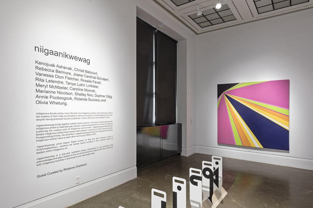niigaanikwewag , Robert Freeman Gallery, Art Gallery of Mississauga, Photo by Toni Hafkenscheid