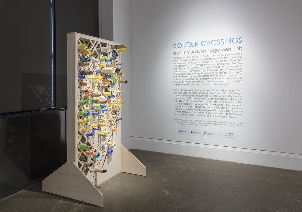 border crossings,  Robert Freeman Gallery, Art Gallery of Mississauga. Photo by Toni Hafkenscheid.