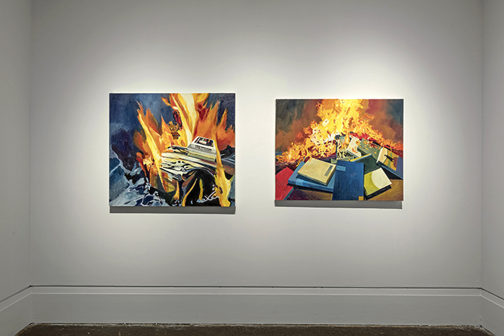 Burning Desire , XIT-RM, Art Gallery of Mississauga. Photo by Toni Hafkenscheid.