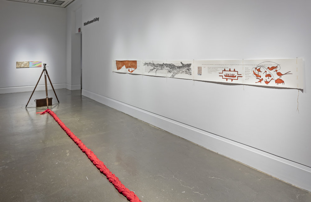 Bonnie Devine. Circles and Lines: Michi Saagig   , Art Gallery of Mississauga. Photo by Toni Hafkenscheid