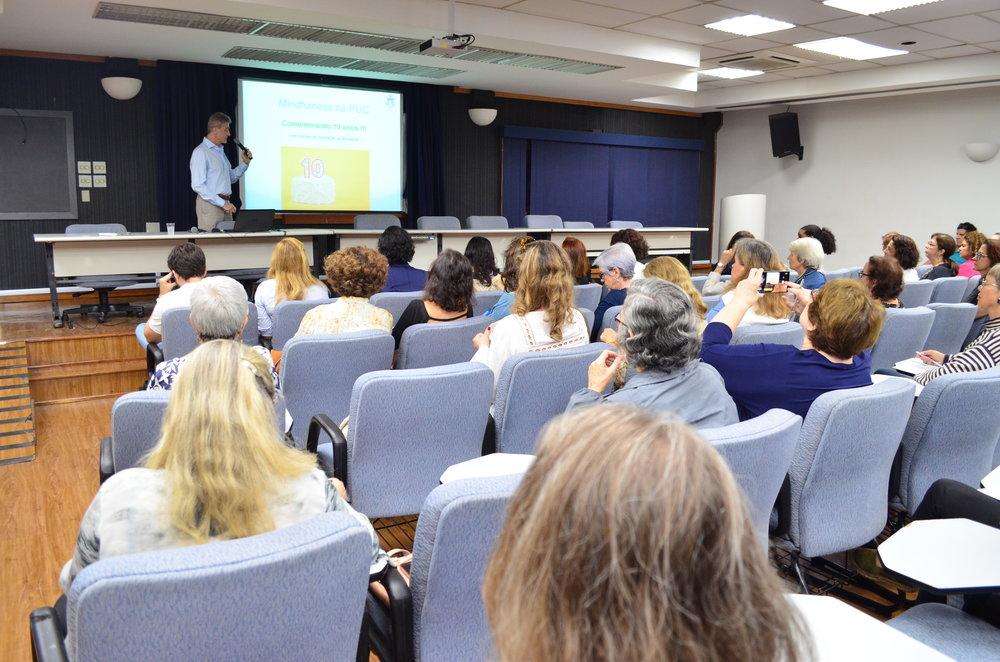 Palestra sobre Mindfulness com o Professor Jorge Biolchini, parte do Ciclo de Palestras realizado em 2018 na PUC-Rio.