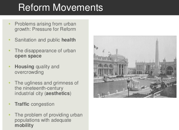 An excerpt from a presentation on Urban Planning in the early 1900s.   https://www.slideshare.net/amukh03/sustainable-cities-the-industrial-city-52813808