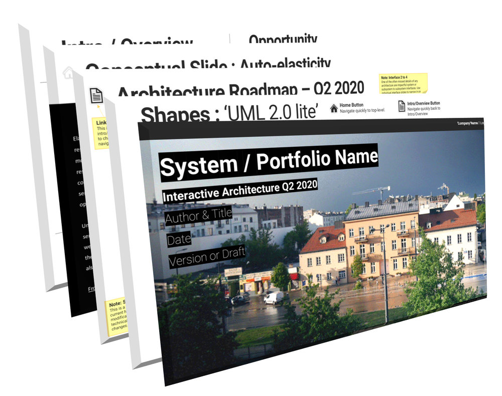 These templates are generic in nature, and can be customized for almost any architectural purpose.