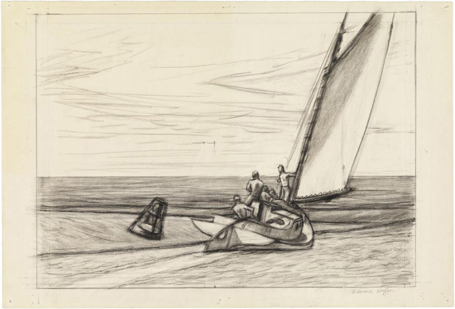 Edward Hopper, Study for Ground Swell, medium (18.9 x 26 in.) print.