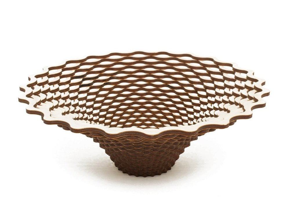 Large Weave Wooden Bowl