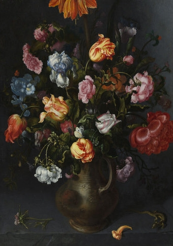 Jacob Vosmaer: A Vase of Flowers.