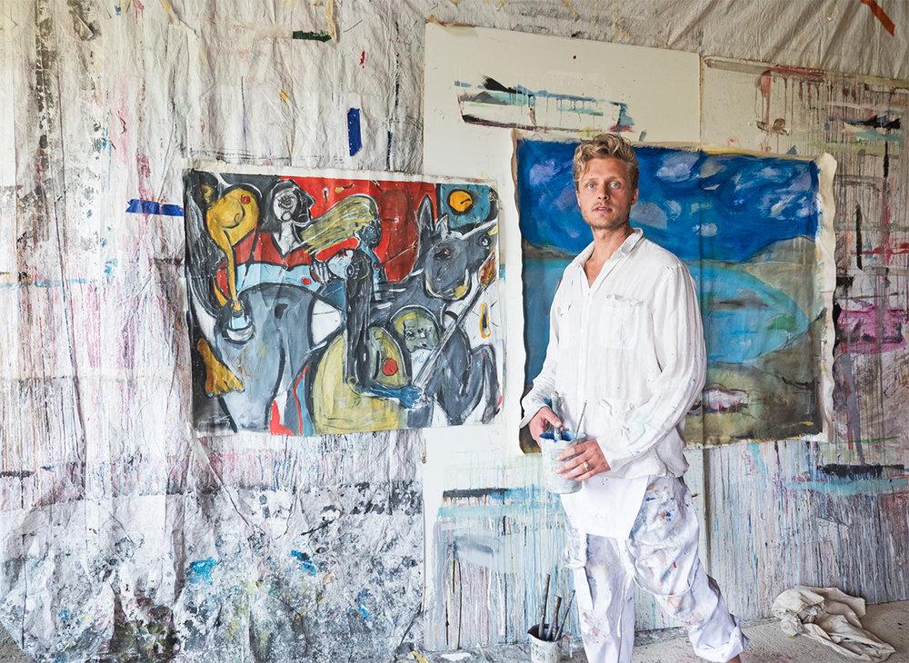 Grason Ratowsky in his Mallorca Studio, 2017.