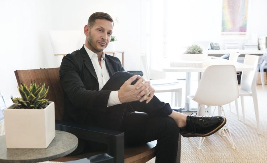 David Brian Sanders in his Los Angeles office, 2018