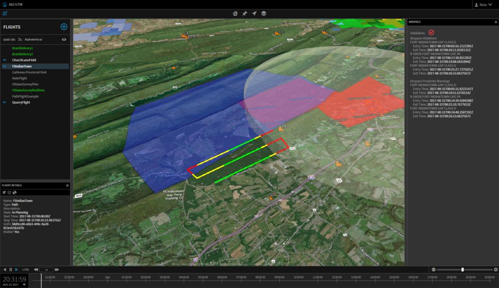 Waypoint Flight Paths - Multi-Point Flight Paths Representing Autonomous Routes