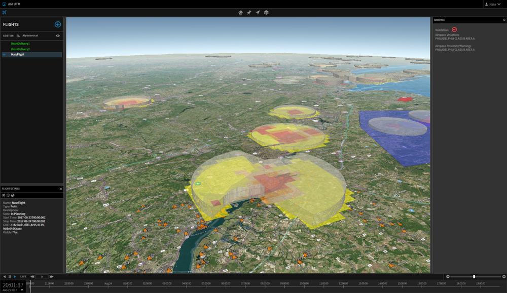 LAANC OneSky Drone Map Coverage
