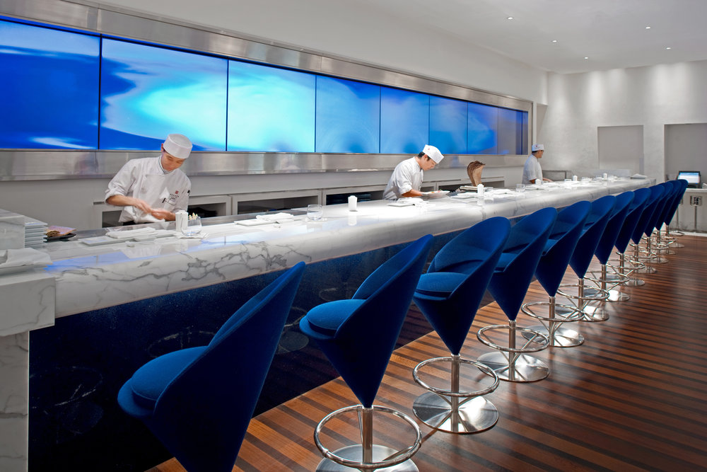 Morimoto Sushi Bar in Boca Raton Resorts, The Waldorf Astoria Collection
