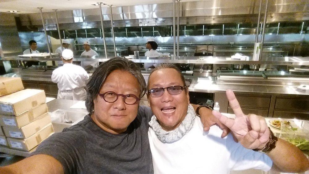 Jimi and Chef Morimoto at Morimoto Asia in Orlando
