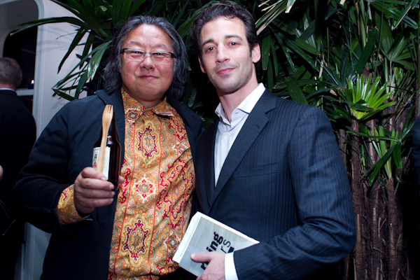 August Cardona of Epicurean Group and Jimi Yui at 2011 StarChefs.com New York Rising Stars Gala at Bar Basque Photo: Tim Ryan Smith, Shannon Sturgis