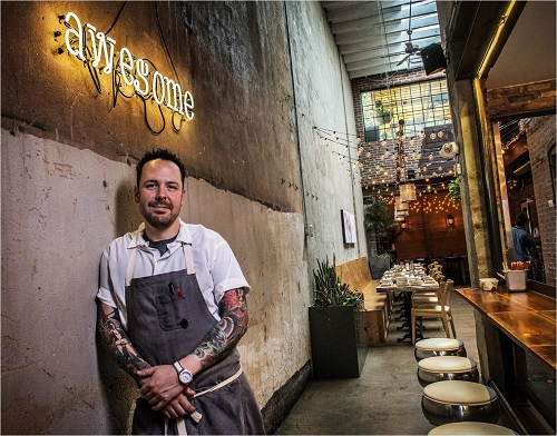 Chef Aaron Silverman at Rose's Luxury   Photo:Bill O'Leary