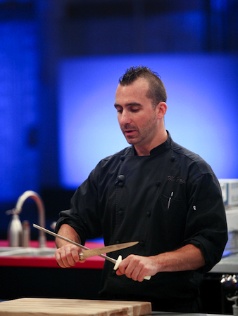 Chef Marc Forgione on Food Networks' The Next Iron Chef