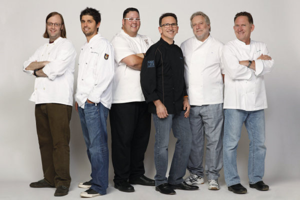 Chef Jonathan Waxman with fellow Top Chef Masters contestants