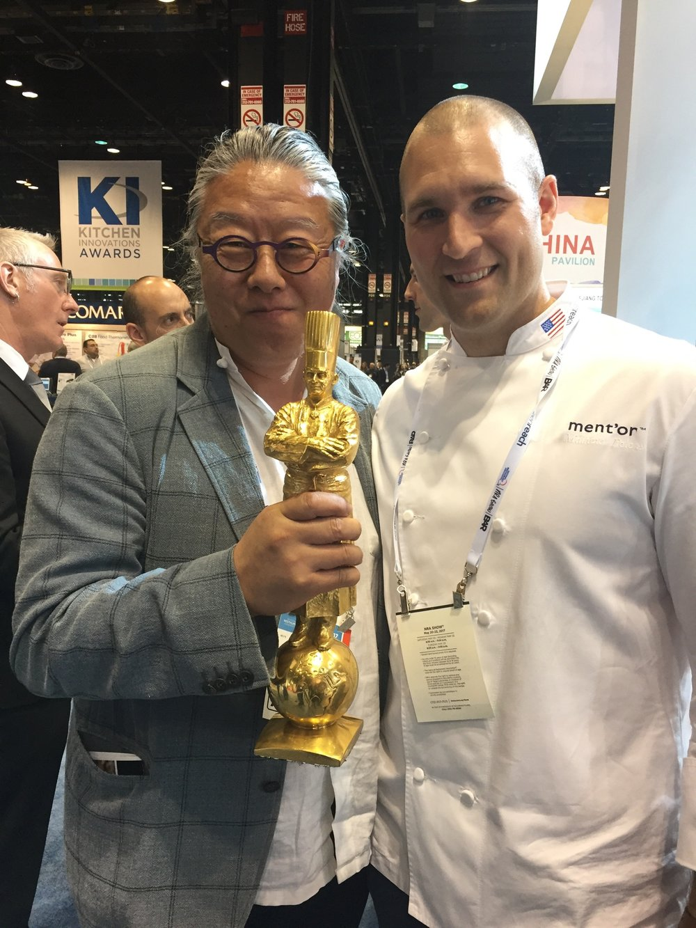 Bocuse d'Or winner Chef Mathew Peters with Jimi