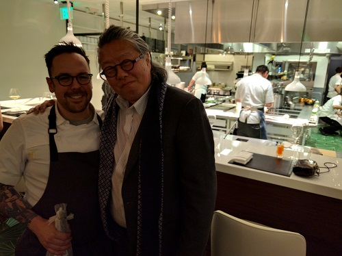 Chef Aaron Silverman and Jimi at Pineapple and Pearls