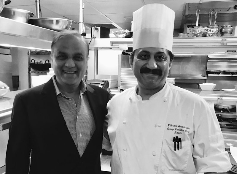 Ashok Bajaj of Knightsbridge Restaurant Group and Executive Chef Vikram Sunderam   Photo: Nevin Martell