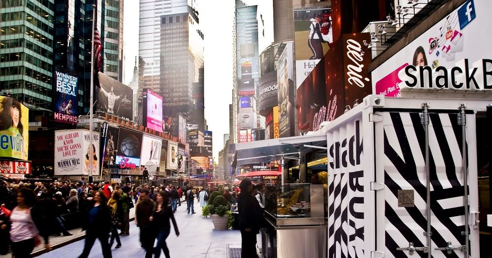 SnackBox in Times Square for Jonathan Morr Group